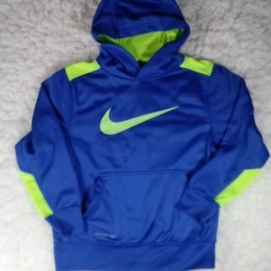 Nike Neon Blue Green Therma Fit Hoodie Sm